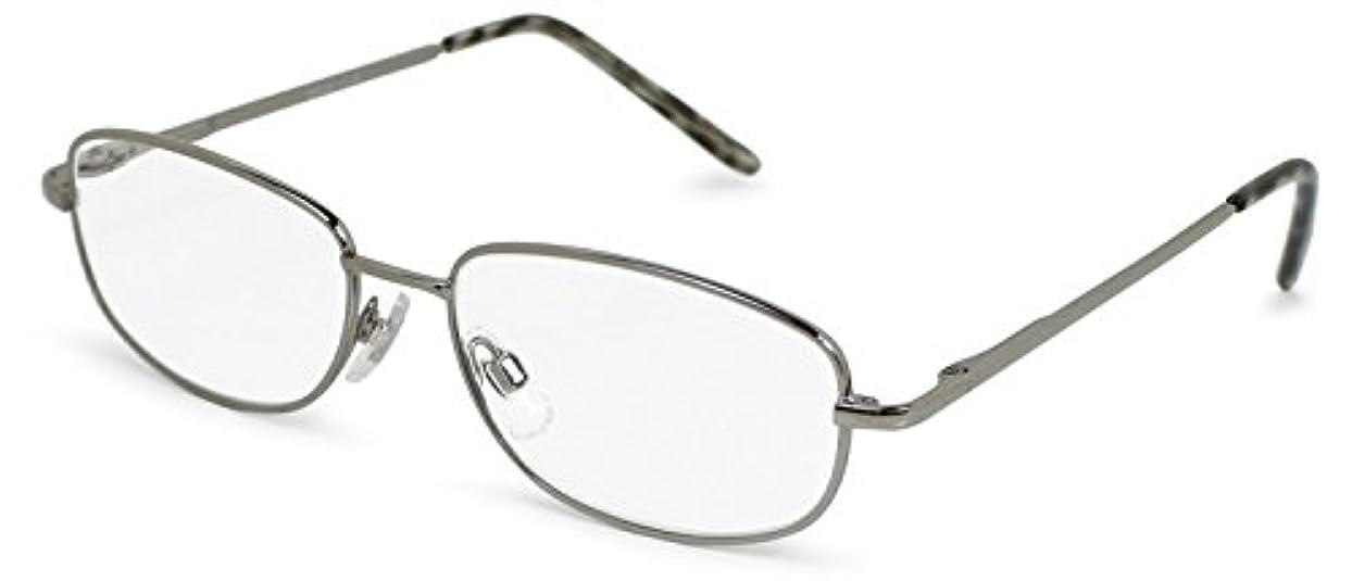 計画的五花束デューク 老眼鏡 +3.5 度数 メタルフレーム ソフトケース付き メタリックグレー DR-35+3.50
