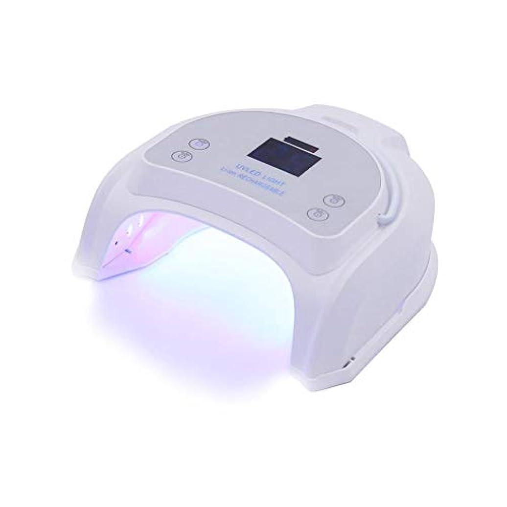 長いです現金子羊UVライト UVネイルライト LEDネイルドライヤー 64W ネイル光線療法機 プロ ミラーデザイン 丈夫なアウターケーシング 速い 安全性 無味