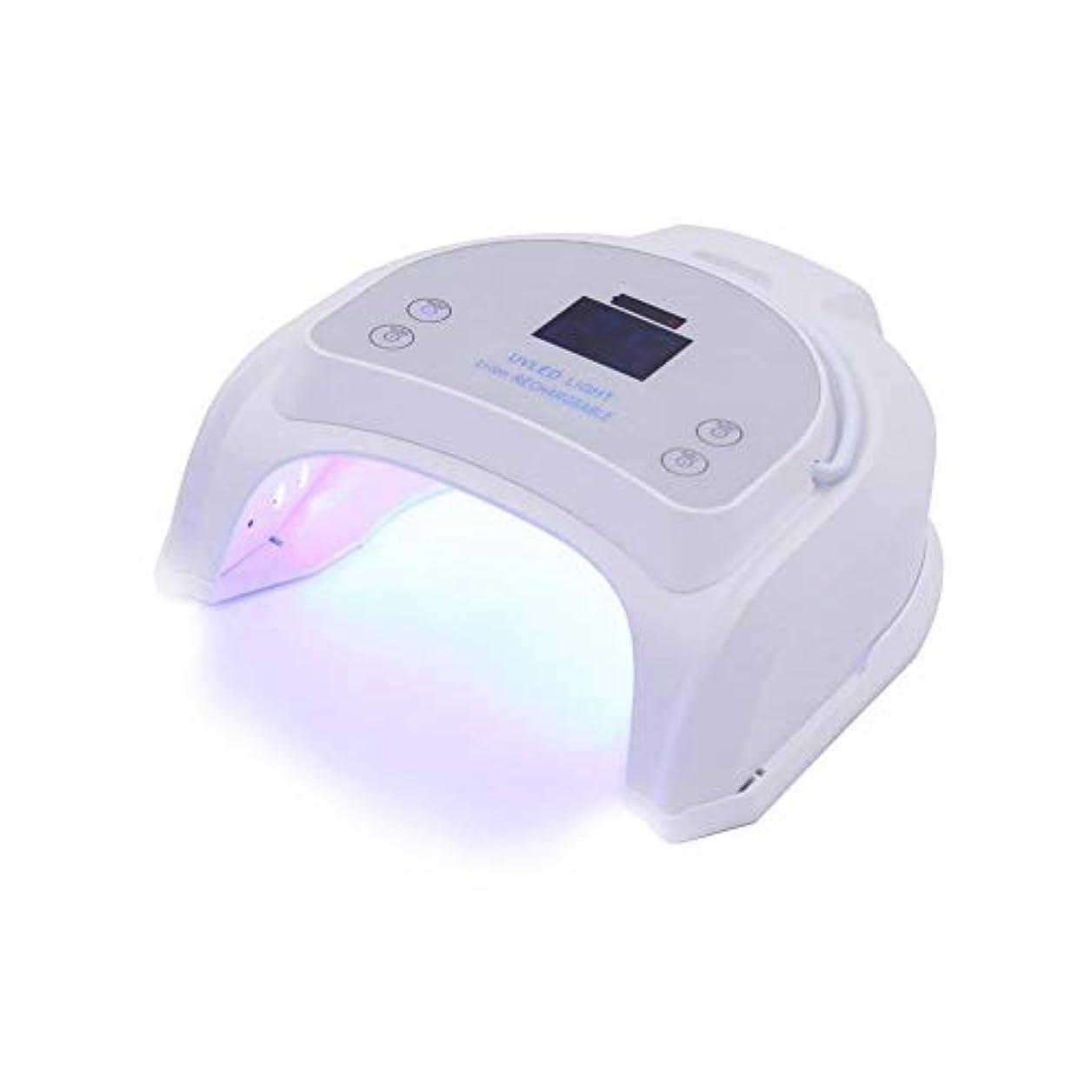 嵐のスリップシューズタクシーUVライト UVネイルライト LEDネイルドライヤー 64W ネイル光線療法機 プロ ミラーデザイン 丈夫なアウターケーシング 速い 安全性 無味