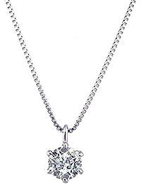[京セラ] kyocera ダイヤモンド ネックレス プラチナ 0.3カラット 一粒 ベネチアンチェーン 天然石 人気