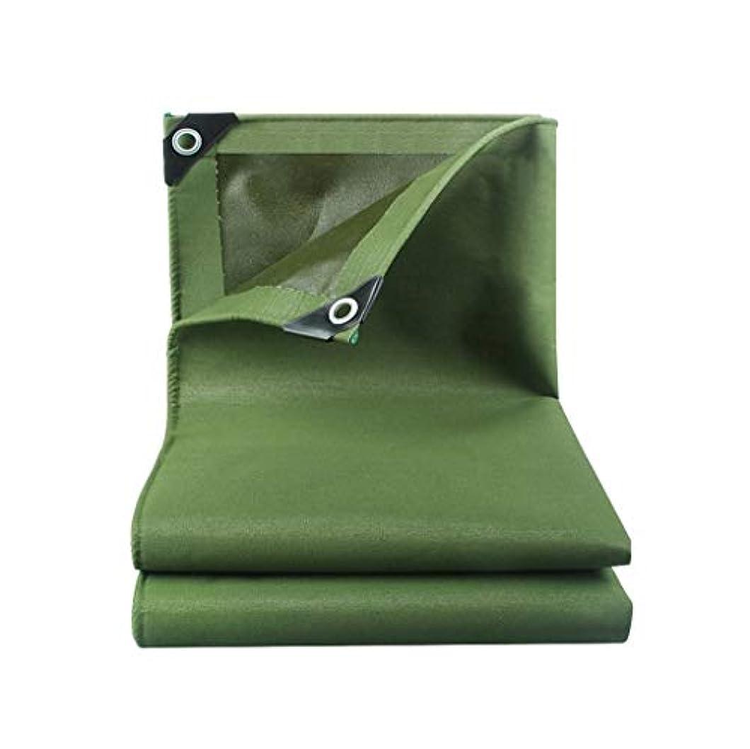 スプレー小麦粉タンパク質防水シートの二重防水屋外の頑丈なキャンプの陰のカバーシートの防水シートの日よけのテント FENGMIMG (色 : 緑, サイズ さいず : 6*6m)