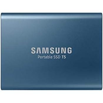 Samsung T5 500GB USB 3.1 Gen 2 (10Gbps, Type-C) 外付け SSD (ポータブル SSD) MU-PA500B/IT Alluring Blue 国内正規保証品