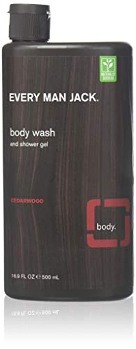 共役教育するおなかがすいたEvery Man Jack Body Wash and Shower Gel Cedarwood,16.9 oz (Pack of 6) by Every Man Jack