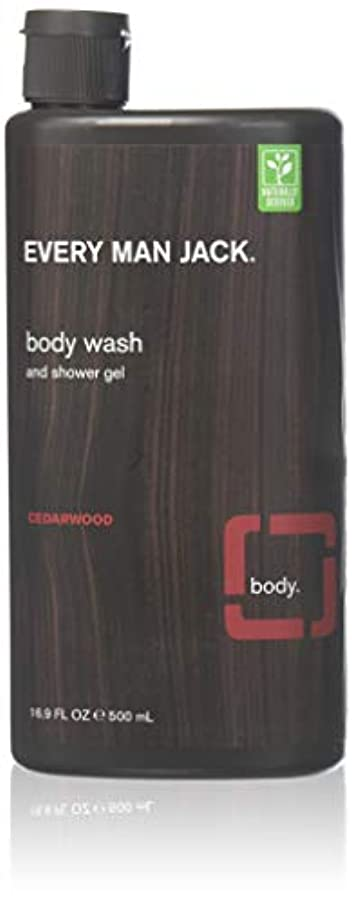 思慮深い防ぐキルスEvery Man Jack Body Wash and Shower Gel Cedarwood,16.9 oz (Pack of 6) by Every Man Jack