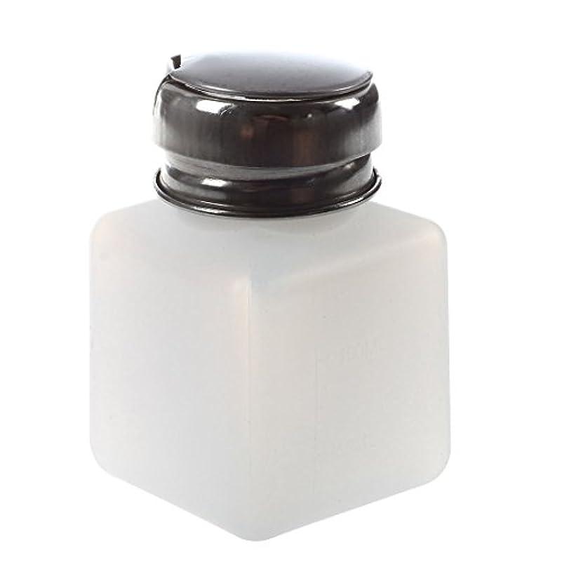 ナース強度フラップGaoominy エンプティーポンプディスペンサー ネイルアート研磨リムーバー 100MLボトル用 (ホワイト)