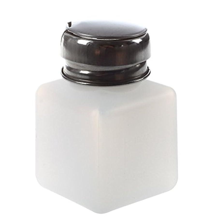 縞模様の聴く王朝Gaoominy エンプティーポンプディスペンサー ネイルアート研磨リムーバー 100MLボトル用 (ホワイト)