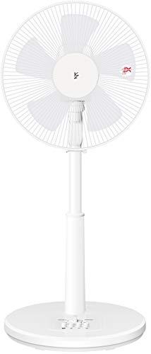山善 扇風機 30cm リビング扇 押しボタンスイッチ 風量3段階調節 タイマー機能付き ホワイト YLT-AG303(W)