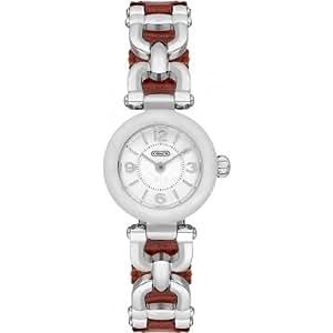 (コーチ) COACH 腕時計 レディース 14501854 WAVERLY ウェイバリー シルバー/ブラウン[並行輸入品]
