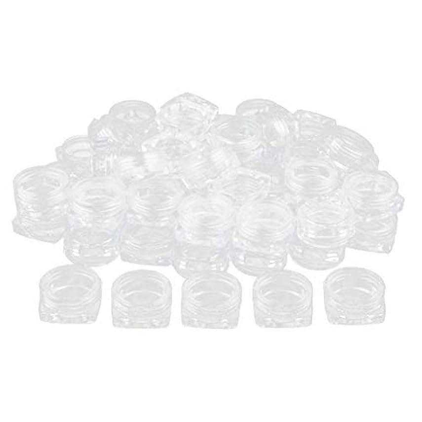 シルエット同性愛者人柄Baoblaze 約50個 メイクアップボトル クリア ポット コスメ 化粧品 詰替え容器 プラスチックジャー - 2g