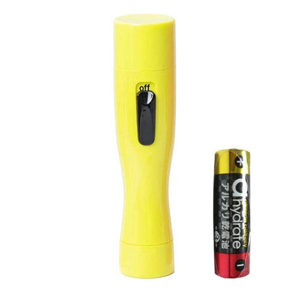 交換可能軸あごアルファP Solstick mini(ソルスティックミニ) イエロー + 単3アルカリ乾電池セット