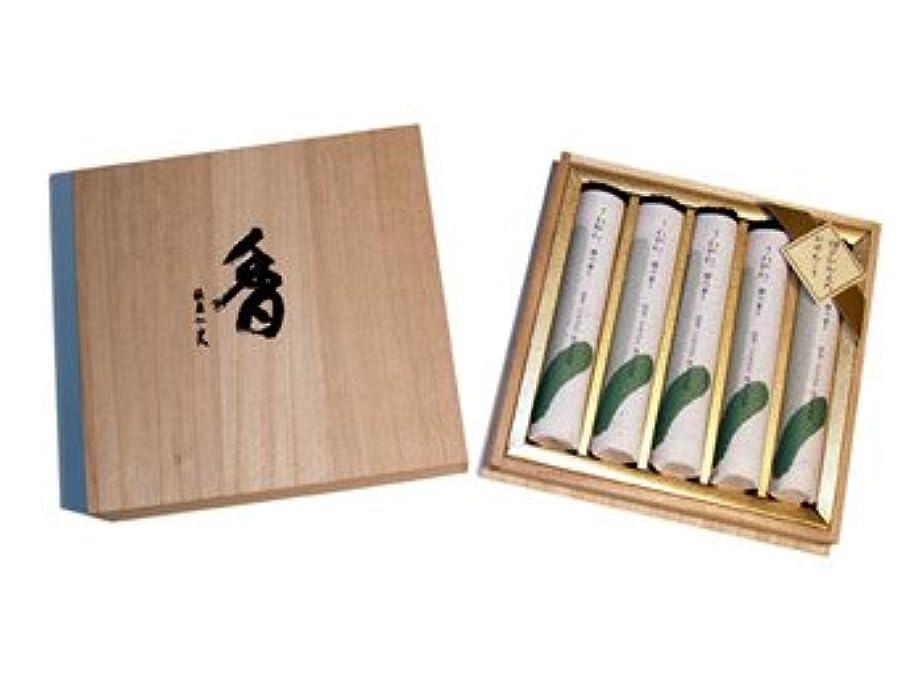 不正三角形位置するさわやか檜の香り短寸5把桐箱