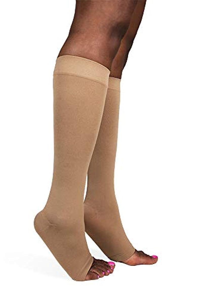 コンサートキャラバンフェミニンSigvaris Soft Opaque 841CLLO35 15-20mmHg Open Toe, Calf Length Large Long Women, Nude by Sigvaris