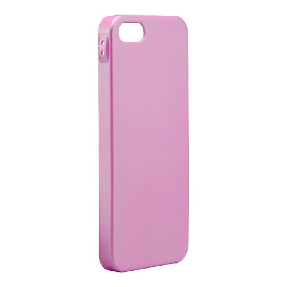 ラベルハードリング杭iBUFFALO iPhone 5S/iPhone 5 パールハードケース 液晶保護フィルム付 ピンク BSIP13PCHPPK