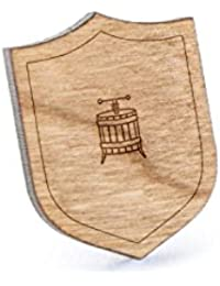 Caskラペルピン、木製ピンとタイタック|素朴な、ミニマルGroomsmenギフト、ウェディングアクセサリー