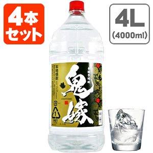 岩川醸造 (4本セット) 本格芋焼酎 鬼嫁(おによめ) 芋 25度 4000ml(4L)×4本 (1ケース) (ペット焼酎)(芋)