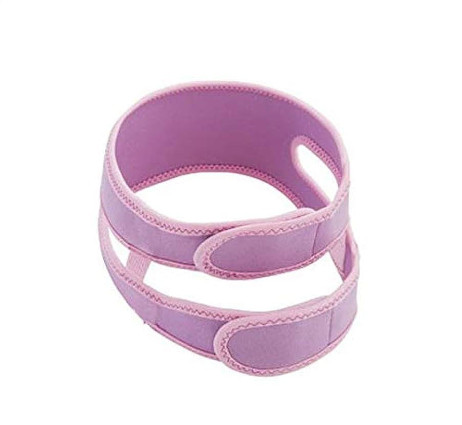 陰気皮型フェイスシェイピングフェイス包帯、引き締めフェイスリフティングアーティファクト/アンチダブルチンフェイスリフティングベルト/ラインカービング術後ヘッドギア,Purple