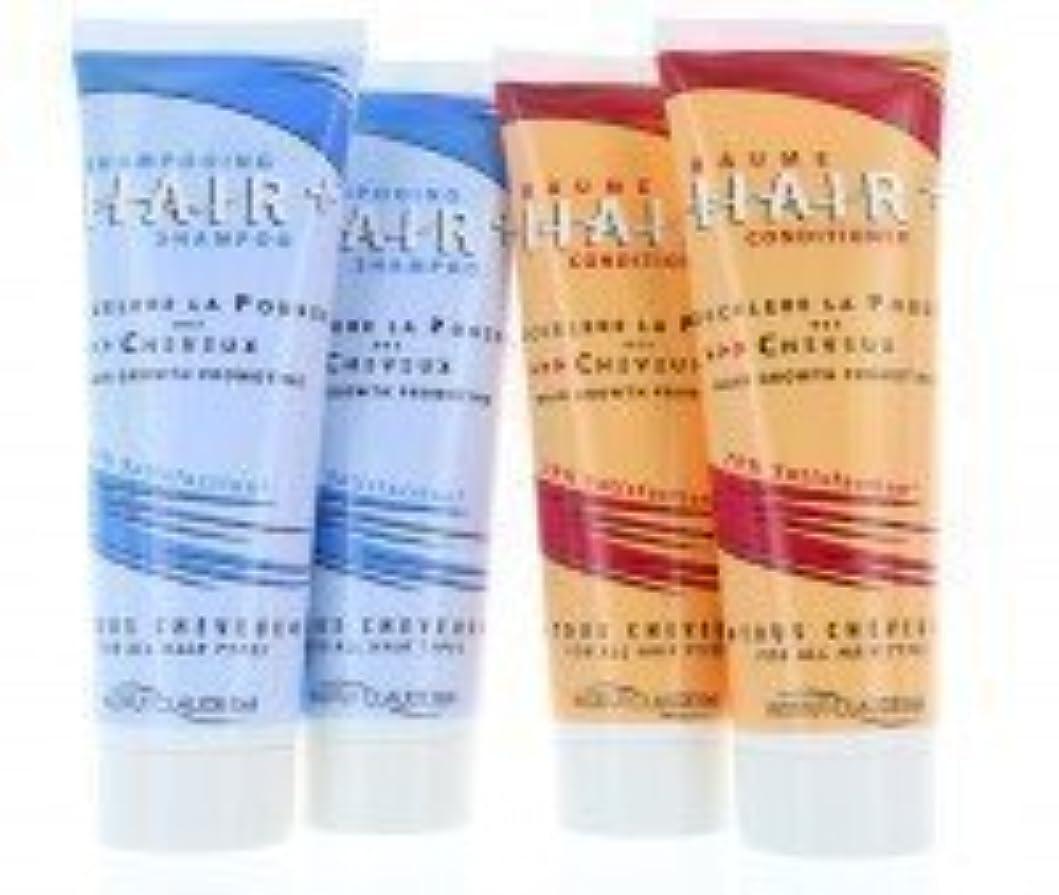 レンド写真の持つヘアプラスシャンプー&コンディショナー(4 x 250ml) - 育毛促進剤