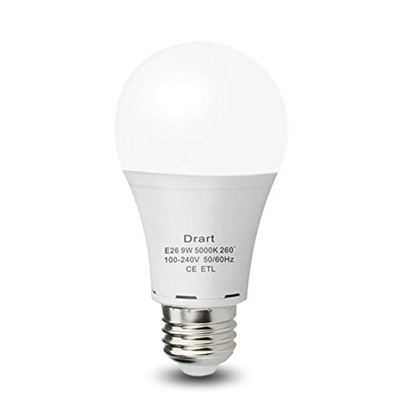 Drart LED電球 E26口金 一般電球100W形相当 広配光タイプ 密閉形器具 断熱材施工器具対応 非調光対応 (1個入り, 昼白色5000K)