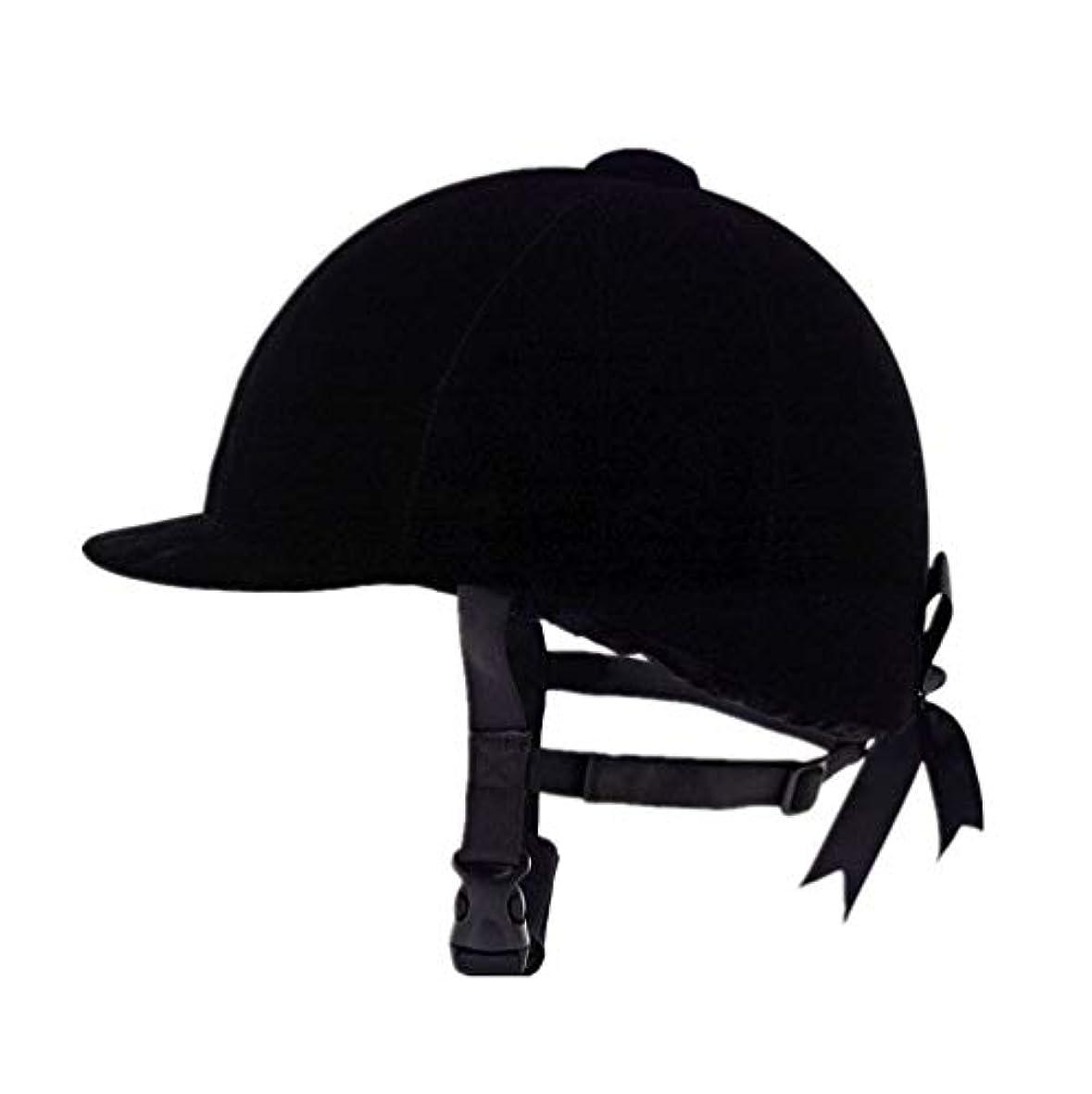懲戒糸小麦乗馬用帽子快適なベルベットの乗馬用帽子 乗馬用ヘルメットブラック