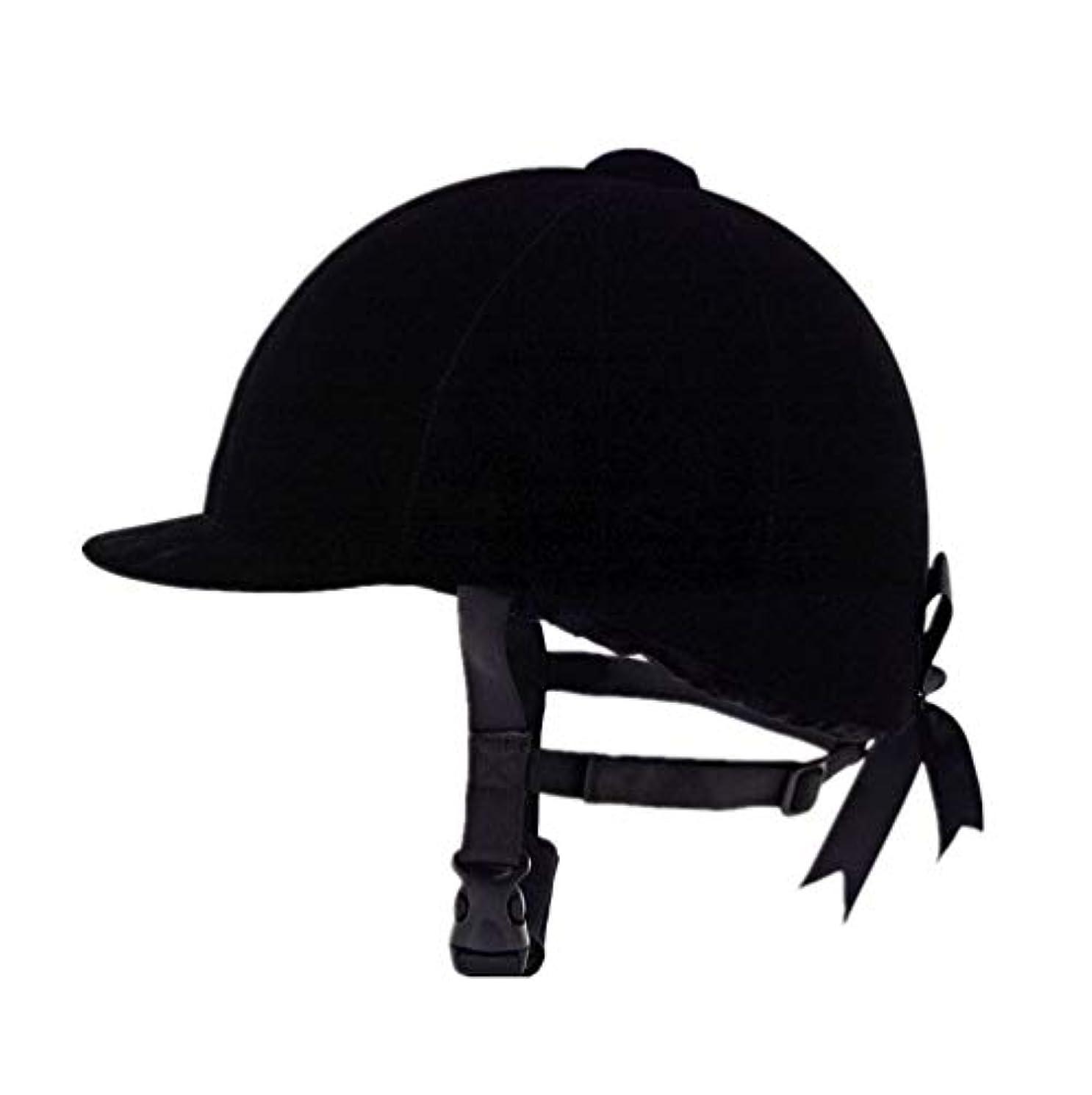 絶え間ない信条利益乗馬用帽子快適なベルベットの乗馬用帽子 乗馬用ヘルメットブラック