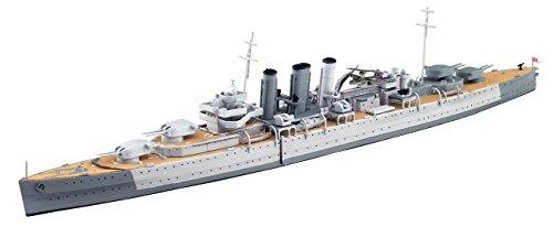 青島文化教材社 1/700 ウォーターライン 限定 イギリス軍 重巡洋艦ドーセットシャー インド洋セイロン沖海戦 プラモデル (メーカー初回受注限定生産)