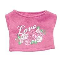 《ウィッシュギフトべア》 グリーティングシャツ(ラブ) WGB 約12.5cmぬいぐるみ用 4S お人形遊び 洋服 おままごと プティルウコスチューム 4S