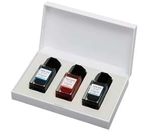 PILOT 色彩雫 イロシズク ミニ 3色セット 15ml 専用ケース入り INK-15 3色自由に選べます