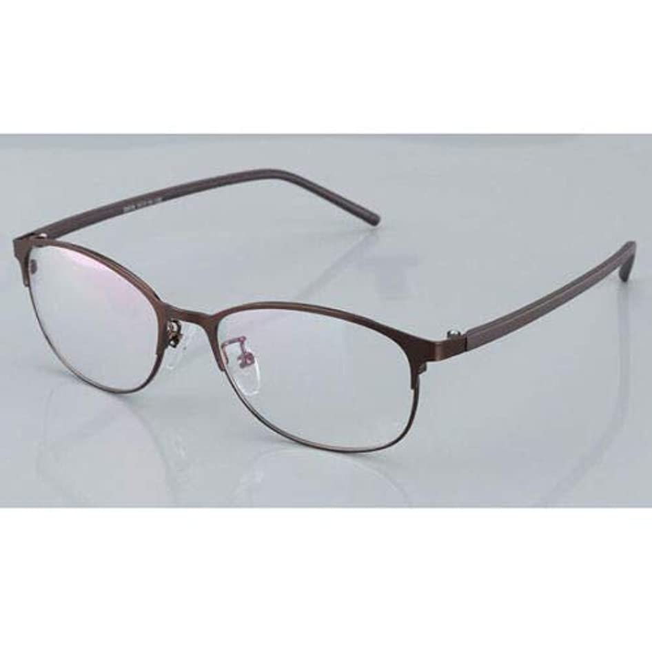 FidgetGear 変色老眼鏡フォトクロミック眼鏡男性サングラスメタルフレーム 褐色