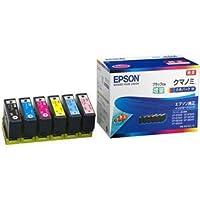 エプソン インクカートリッジ クマノミ6色パックM(黒のみ増量) KUI-6CL-M 1箱(6個:各色1個)