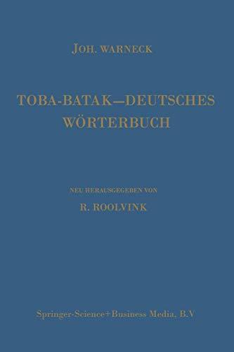 Download Toba-Batak - Deutsches Woerterbuch (German Edition) 9024720184