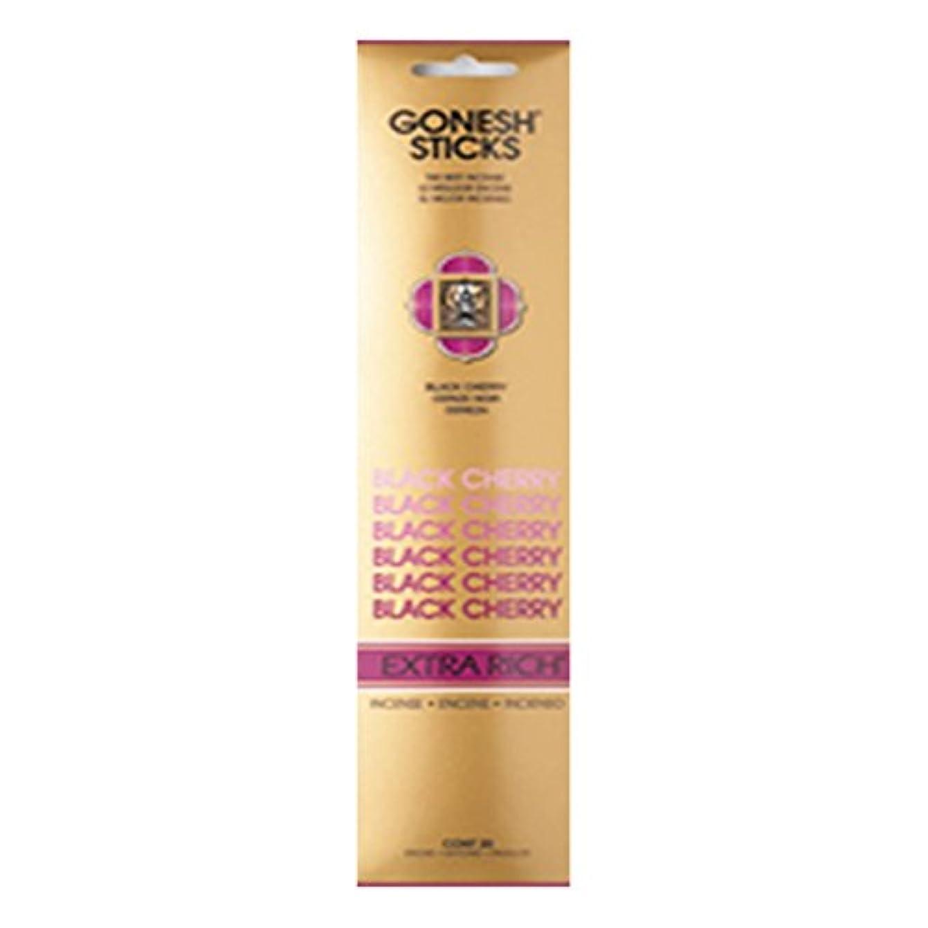 Gonesh Incense Extra rich-ブラックチェリー( 20 Sticks in 1パック) 2208060