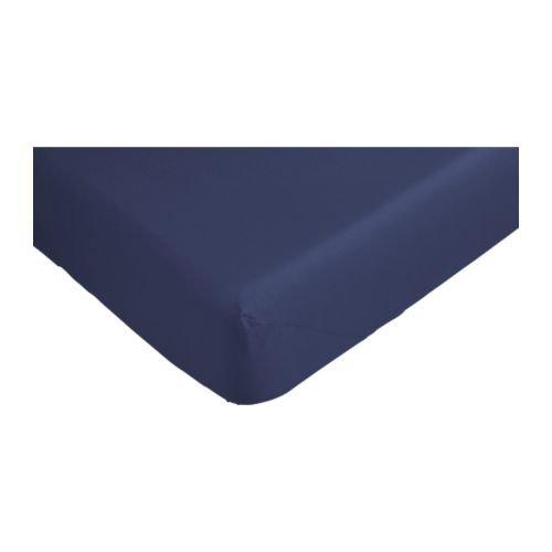 RoomClip商品情報 - ★ドヴァーラ / DVALA / ボックスシーツ / ダークブルー(90×200cm)[イケア]IKEA(90183057)