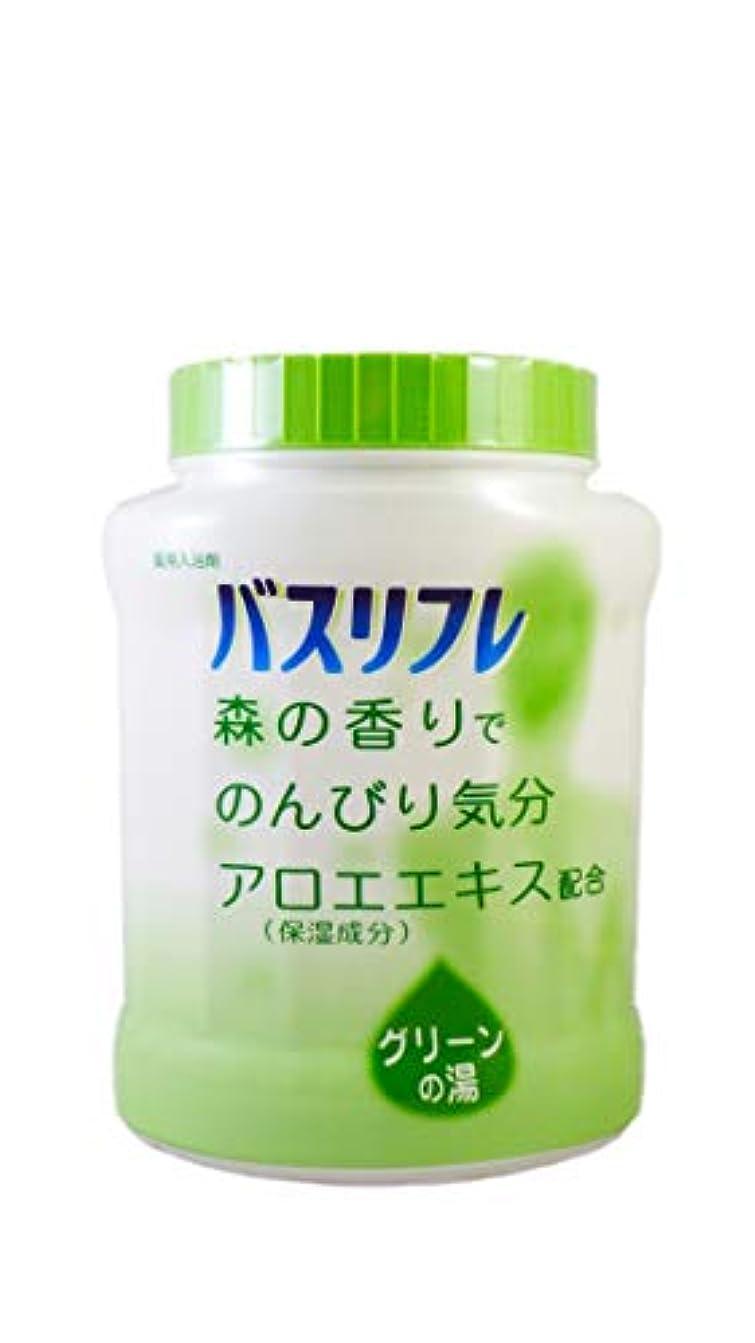 普及飼料台風バスリフレ 薬用入浴剤 グリーンの湯 森の香りでのんびり気分 天然保湿成分配合 医薬部外品 680g