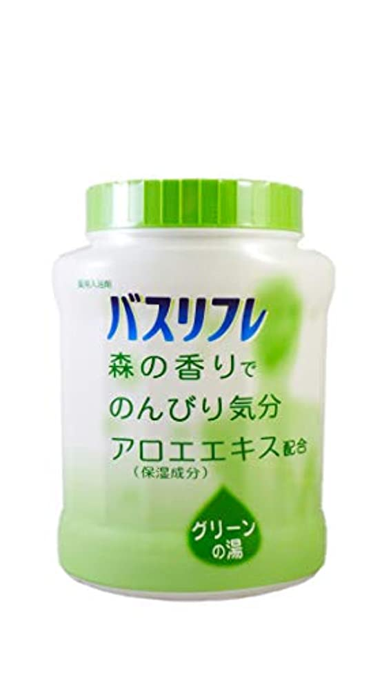 正当化するディプロマ考古学者バスリフレ 薬用入浴剤 グリーンの湯 森の香りでのんびり気分 天然保湿成分配合 医薬部外品 680g