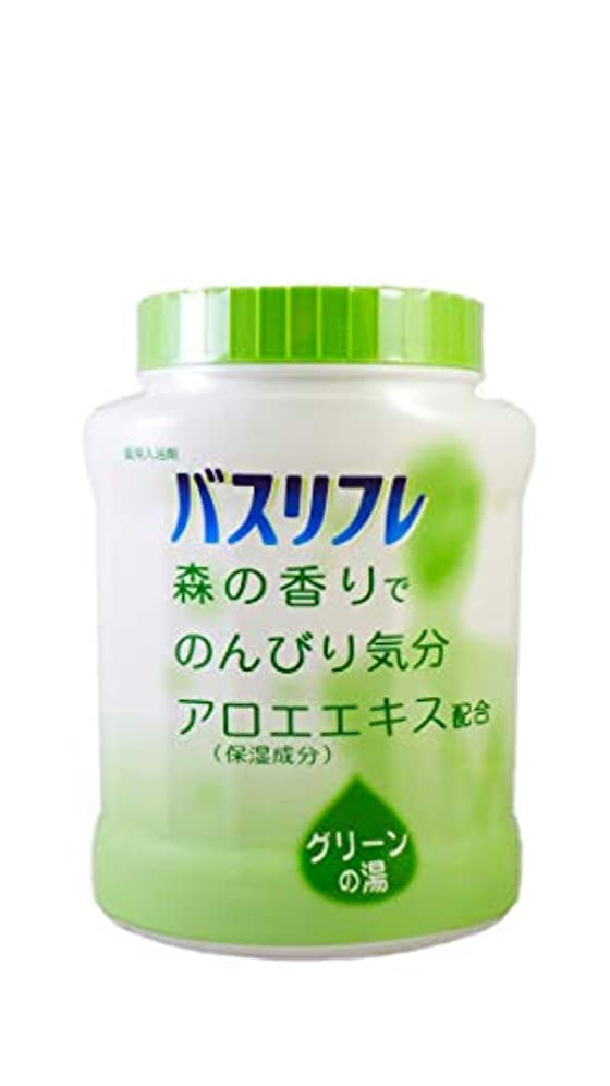 帝国泳ぐに頼るバスリフレ 薬用入浴剤 グリーンの湯 森の香りでのんびり気分 天然保湿成分配合 医薬部外品 680g