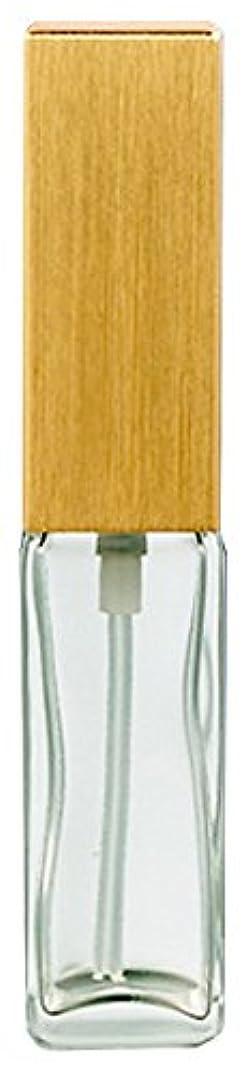 不機嫌そうな政治家憤る16491 メンズアトマイザー 角ビン クリア キャップ ヘアラインゴールド