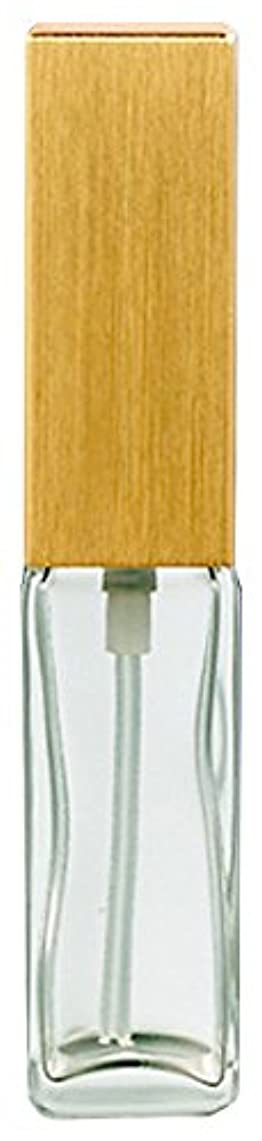 順番リテラシーハイブリッド16491 メンズアトマイザー 角ビン クリア キャップ ヘアラインゴールド