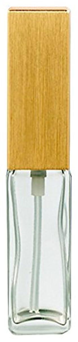 虹材料またね16491 メンズアトマイザー 角ビン クリア キャップ ヘアラインゴールド