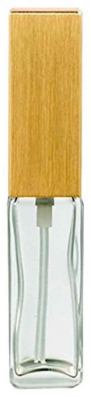 パーフェルビッド保育園起訴する16491 メンズアトマイザー 角ビン クリア キャップ ヘアラインゴールド