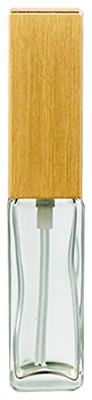 受けるテスピアン贅沢16491 メンズアトマイザー 角ビン クリア キャップ ヘアラインゴールド