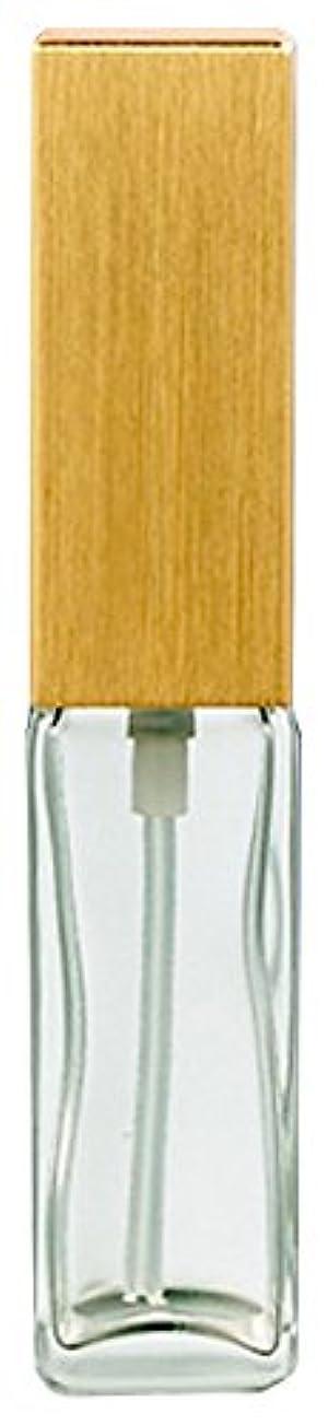 炭素アンケート名誉16491 メンズアトマイザー 角ビン クリア キャップ ヘアラインゴールド