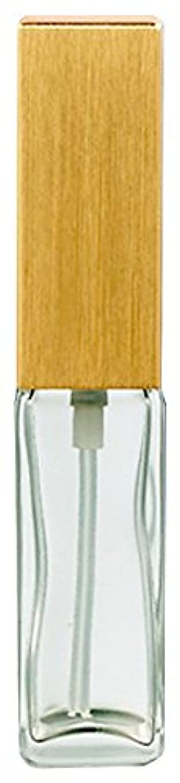 ディレクトリ差別的ブラスト16491 メンズアトマイザー 角ビン クリア キャップ ヘアラインゴールド