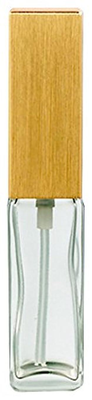 パズル不正パトロン16491 メンズアトマイザー 角ビン クリア キャップ ヘアラインゴールド