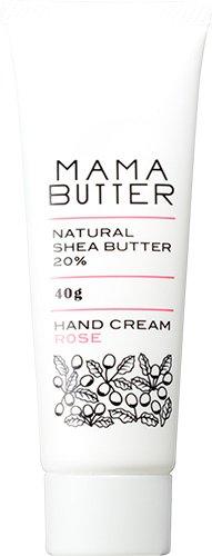 ママバター ナチュラル シアバター ハンドクリーム ローズ 40g