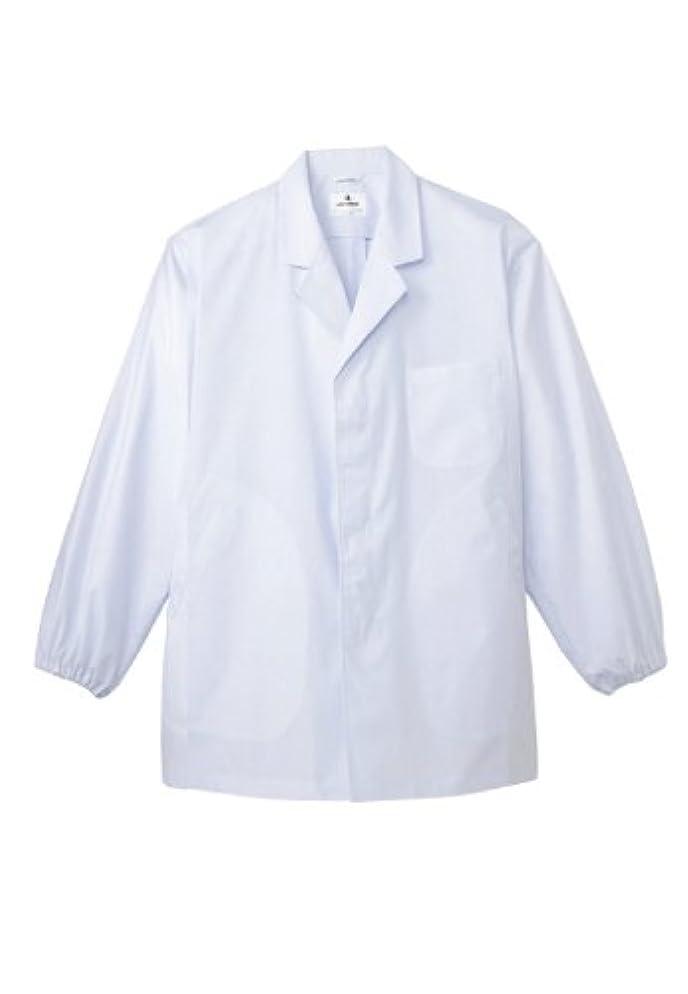 カウンタテロ早熟抗菌?防臭加工を施した、リーズナブルな【衿付き白衣】(長袖/男性用)《031-AB-6406》