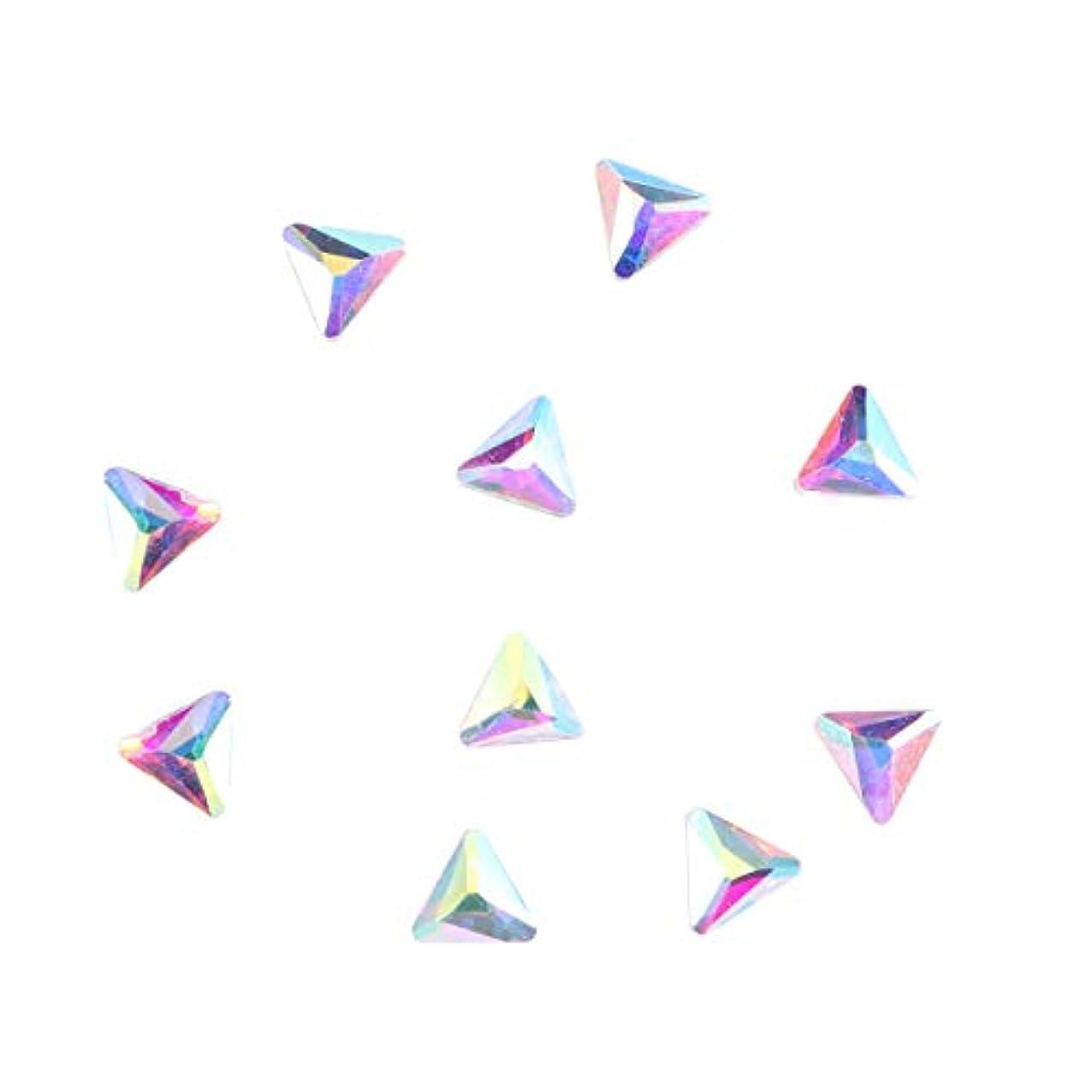 イブ支配的新年Frcolor ラインストーン ネイルシール ネイルアートダイヤモンド ネイルアートシールセット ネイルケアセット ネイル用品 10本(三角6*6)