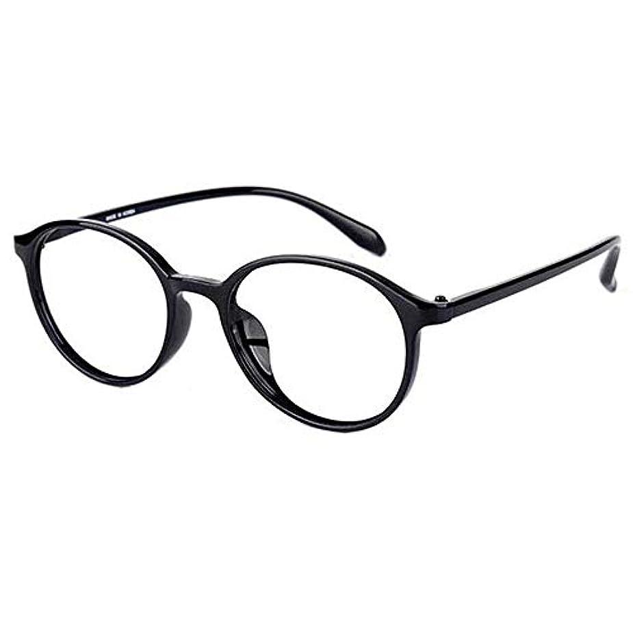 ケント激怒ロータリーYYQ 老眼鏡、男性と女性の読者、超軽量アンチブルーゴーグル、コンピュータメガネ放射線防護、スタイリッシュな丸型フレーム、ばね蝶番付き店頭眼鏡(+ 1.5)
