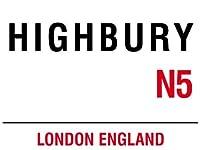 MIN90553 LONDON STREETのSIGN - ハイベリーN5 METAL ADVERTISINGウォールサイン