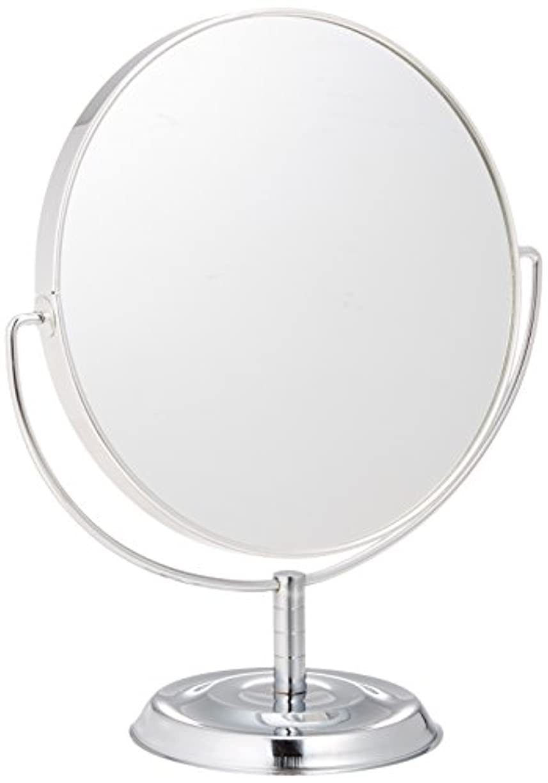 検査テクニカルバクテリアメリー 片面約5倍拡大鏡付両面鏡卓上ミラー シルバー No.5880
