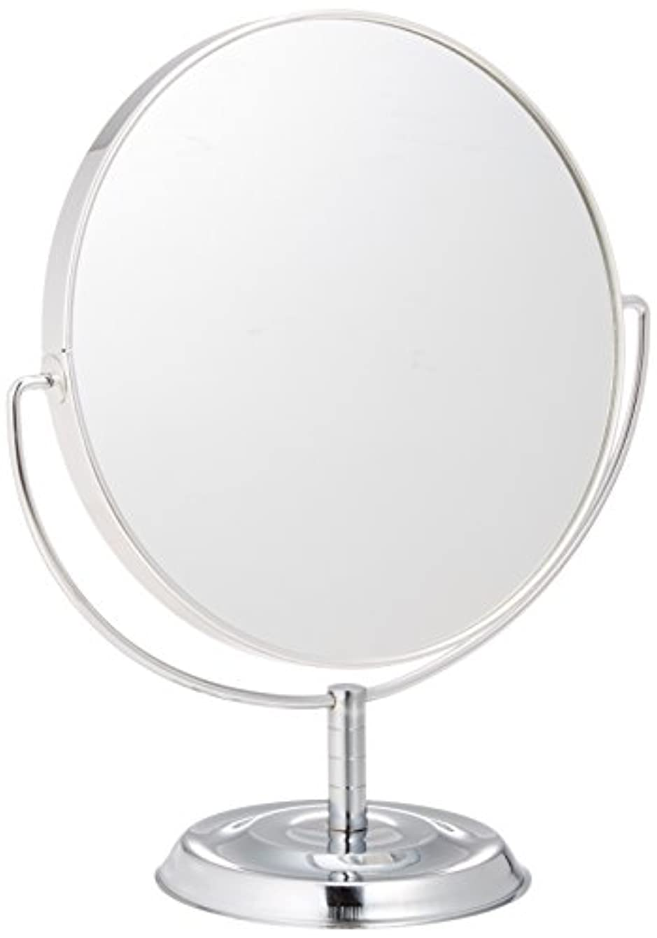 小麦粉ために起きているメリー 片面約5倍拡大鏡付両面鏡卓上ミラー シルバー No.5880